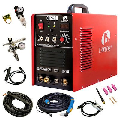 Lotos CT520D combination TIG Welder and plasma cutting tool