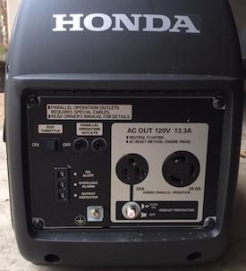 honda eu2000i inverter generator panel