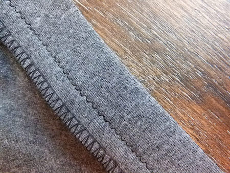 three thread over-edge stitch using a serger