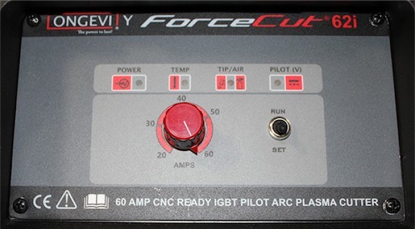 forcecut 62i front panel controls