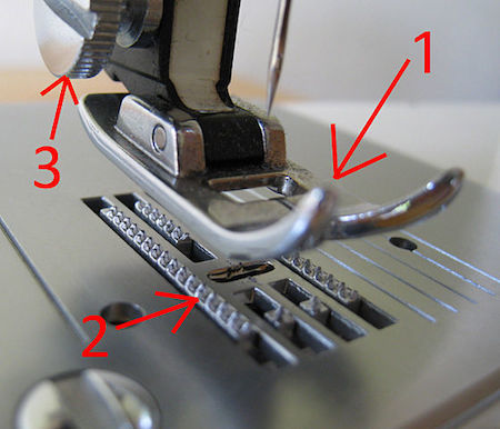parts of a sewing machine foot