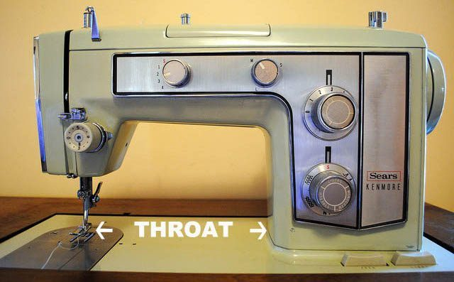 sewing machine throat diagram