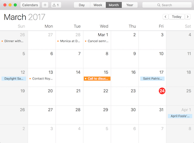 view target calendar with mspy