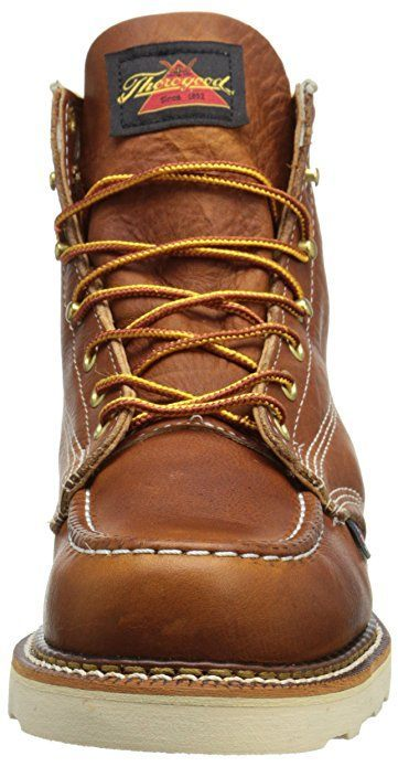 Thorogood Men's soft toe boot front view