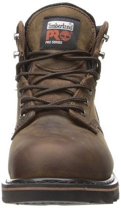 "Timberland Pro Men's Pitboss 6"" Steel Toe work boot front view"