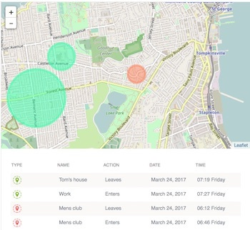 geo fencing from dashboard