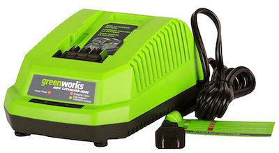 green works lithium-ion battery charger