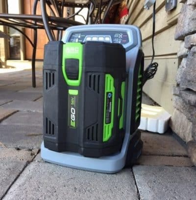 ego's lithium ion battery charger