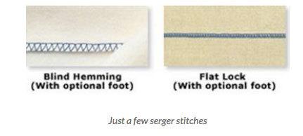 blind hemming and flat lock stitch