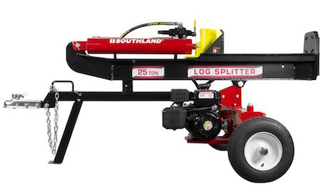 side view of the southland log splitter