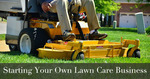 lawn care expert riding mower
