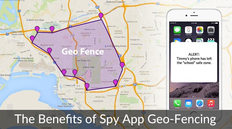 geo fencing to track childs cell phone location