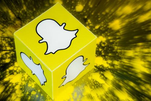 snapchat's logo on a cube