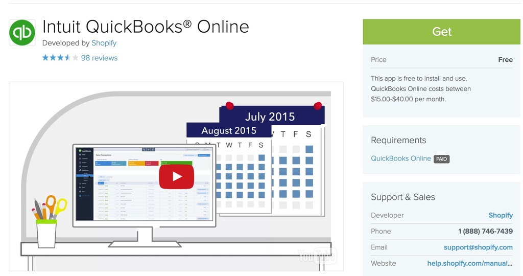 Shopify accounting software Quickbooks