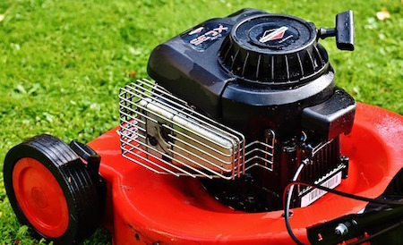 a gasoline powered mower engine