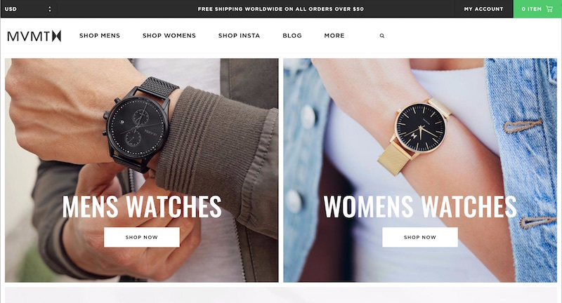 shopify online store examples