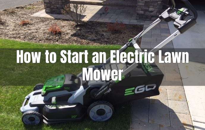 starting an electric lawn mower