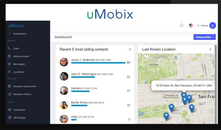 umobix user dashboard