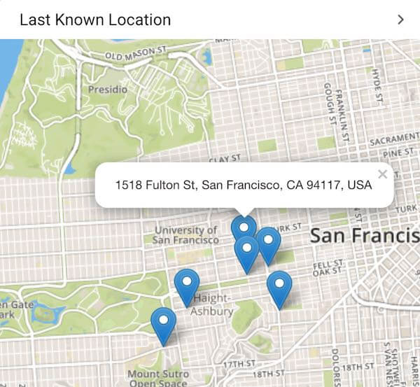 SPYIC's location tracking feature